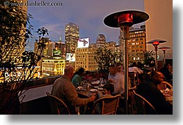 california, cityscapes, horizontal, nite, restaurants, rooftops, san francisco, slow exposure, union square, west coast, western usa, photograph