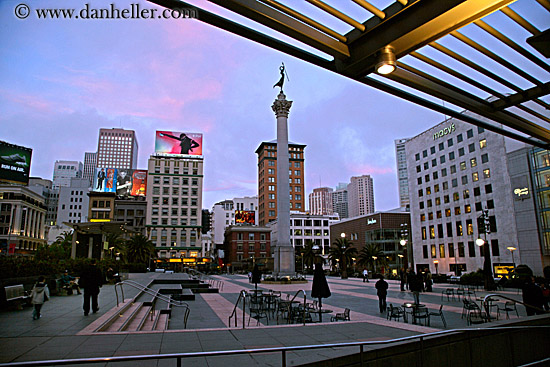 Union square dusk 1 for Western union san francisco ca