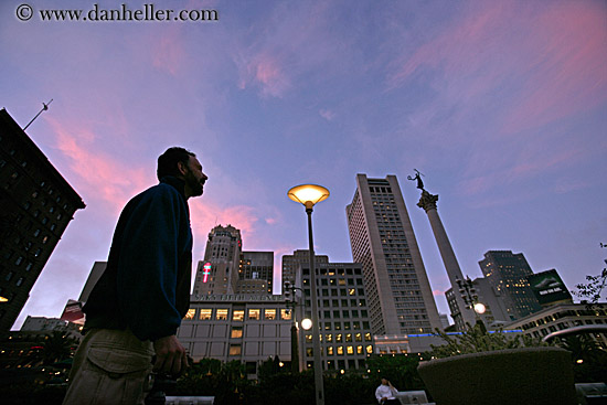 Union square dusk and silhouette 2 for Western union san francisco ca