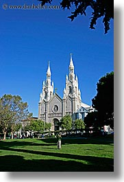 california, churches, paul, peters, san francisco, vertical, washington square, west coast, western usa, photograph