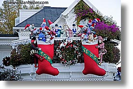 california, christmas, horizontal, houses, san francisco, west coast, western usa, photograph