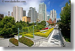 buildings, california, cityscapes, gardens, horizontal, san francisco, west coast, western usa, yerba buena, photograph