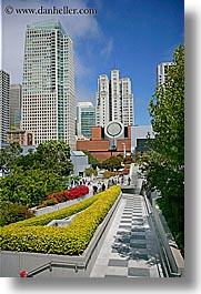 buildings, california, cityscapes, gardens, san francisco, vertical, west coast, western usa, yerba buena, photograph