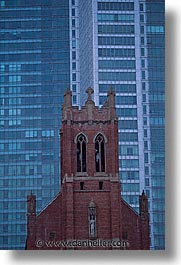 buildings, california, churches, san francisco, st patricks, vertical, west coast, western usa, yerba buena, photograph