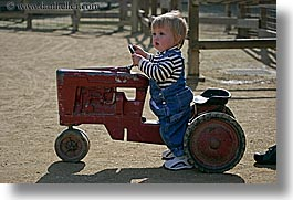 babies, boys, california, childrens zoo, horizontal, jacks, san francisco, toddlers, tractor, west coast, western usa, zoo, photograph