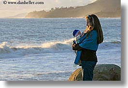 babies, beaches, boys, california, childrens, horizontal, jack and jill, jills, mothers, nature, ocean, people, santa barbara, water, west coast, western usa, womens, photograph