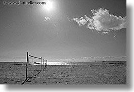 balls, beaches, california, clouds, horizontal, nature, nets, ocean, santa barbara, sky, sun, valley, water, west coast, western usa, photograph