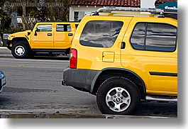 california, colors, escapes, horizontal, hummer, santa barbara, trucks, west coast, western usa, yellow, photograph