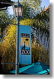 banners, barbara, california, santa, santa barbara, vertical, west coast, western usa, zoo, photograph