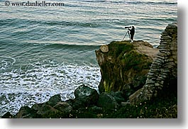 artists, california, cameras, cliffs, coastline, horizontal, nature, ocean, people, photographers, santa cruz, water, waves, west coast, western usa, photograph