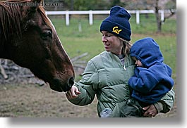 boys, california, childrens, horizontal, horses, jills, people, santa cruz, sniff, toddlers, west coast, western usa, womens, photograph
