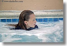 california, childrens, girls, horizontal, hottub, lindsay, people, santa cruz, sauna, west coast, western usa, photograph
