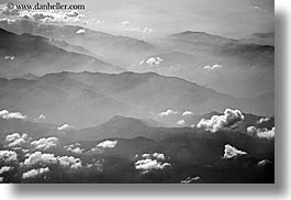 aerials, black and white, california, horizontal, sierras, west coast, western usa, photograph
