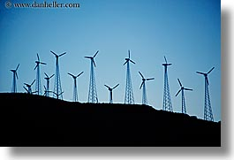california, horizontal, sierras, west coast, western usa, windmills, photograph