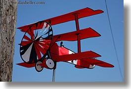 airplane, baron, bodega bay, california, horizontal, ornaments, red, sonoma, west coast, western usa, wind, photograph