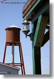 bodega bay, california, lamp posts, sonoma, towers, vertical, water, west coast, western usa, photograph