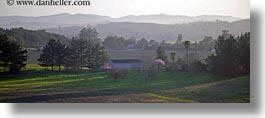barn, buildings, california, horizontal, landscapes, panoramic, sonoma, west coast, western usa, photograph