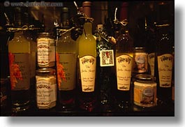 bottles, california, garlic, horizontal, oils, sonoma, west coast, western usa, photograph