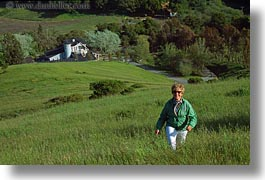 california, green, hiking, hills, horizontal, marlyn, people, sonoma, west coast, western usa, photograph