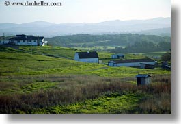 california, farm, green, hills, horizontal, scenics, sonoma, structures, west coast, western usa, photograph