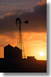 california, sonoma, sunsets, vertical, west coast, western usa, windmills, photograph