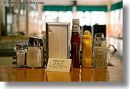 california, condiments, counter, diners, horizontal, virginia lakes, west coast, western usa, photograph