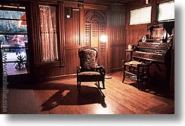 california, chairs, horizontal, organ, west coast, western usa, winchester house, photograph
