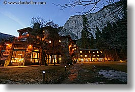 ahwahnee, buildings, california, horizontal, hotels, lights, long exposure, nite, structures, west coast, western usa, yosemite, photograph