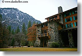ahwahnee, buildings, california, horizontal, hotels, mountains, structures, west coast, western usa, yosemite, photograph