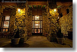 ahwahnee, buildings, california, horizontal, hotels, lights, long exposure, nite, stones, structures, walls, west coast, western usa, windows, yosemite, photograph