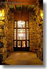 ahwahnee, buildings, california, hotels, lights, long exposure, nite, stones, structures, vertical, walls, west coast, western usa, windows, yosemite, photograph
