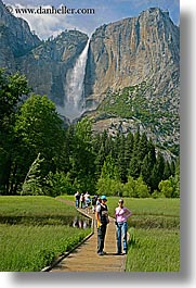 boys, california, chase, falls, jills, nature, people, teenagers, vertical, water, waterfalls, west coast, western usa, womens, yosemite, yosemite falls, photograph