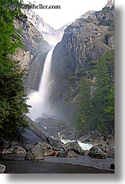 california, falls, nature, slow exposure, vertical, water, waterfalls, west coast, western usa, yosemite, yosemite falls, photograph
