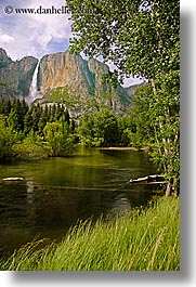 california, falls, nature, rivers, vertical, water, waterfalls, west coast, western usa, yosemite, yosemite falls, photograph