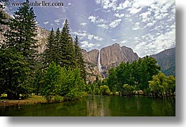 california, falls, horizontal, nature, rivers, water, waterfalls, west coast, western usa, yosemite, yosemite falls, photograph