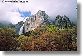 california, falls, horizontal, nature, trees, water, waterfalls, west coast, western usa, yosemite, yosemite falls, photograph