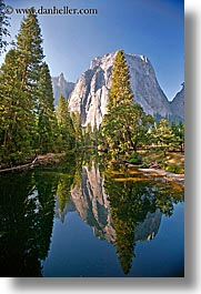 california, merced, mountains, reflect, reflections, rivers, vertical, west coast, western usa, yosemite, photograph