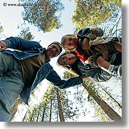 boys, california, childrens, clothes, dans, emotions, families, fathers, fisheye lens, happy, hats, jacks, jills, men, people, square format, toddlers, trees, upview, west coast, western usa, womens, yosemite, photograph