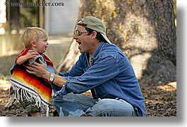 babies, boys, california, childrens, clothes, dans, emotions, families, fathers, happy, hats, horizontal, jacks, laugh, men, people, sunglasses, toddlers, west coast, western usa, yosemite, photograph