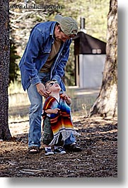 babies, boys, california, childrens, clothes, dans, families, fathers, hats, jacks, men, people, sunglasses, toddlers, vertical, west coast, western usa, yosemite, photograph