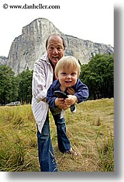 babies, boys, california, childrens, dans, el capitan, emotions, families, fathers, happy, jacks, men, mountains, people, toddlers, vertical, west coast, western usa, yosemite, photograph