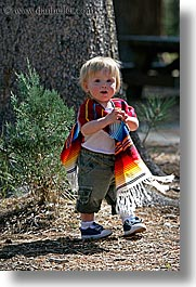 babies, boys, california, colorful, emotions, happy, jacks, people, poncho, toddlers, vertical, west coast, western usa, yosemite, photograph