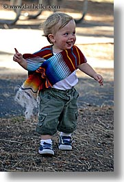 babies, boys, california, colorful, emotions, happy, jacks, laugh, people, poncho, toddlers, vertical, west coast, western usa, yosemite, photograph