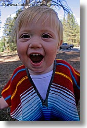 babies, boys, california, colorful, emotions, fisheye lens, happy, jacks, laugh, people, poncho, toddlers, vertical, west coast, western usa, yosemite, photograph