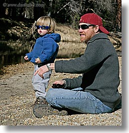 boys, california, childrens, clothes, fathers, hats, jacks, men, people, square format, sunglasses, toddlers, west coast, western usa, yosemite, photograph