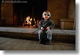 boys, california, childrens, clothes, fire, horizontal, jacks, people, sunglasses, toddlers, west coast, western usa, yosemite, photograph