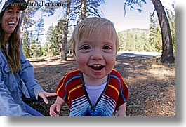 babies, boys, california, emotions, fisheye lens, happy, horizontal, jack and jill, jacks, jills, laugh, mothers, people, toddlers, west coast, western usa, womens, yosemite, photograph