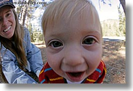 babies, boys, california, emotions, fisheye lens, happy, horizontal, jack and jill, jacks, jills, mothers, people, toddlers, west coast, western usa, womens, yosemite, photograph