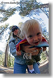 babies, boys, california, emotions, fisheye lens, happy, jack and jill, jacks, jills, laugh, mothers, people, toddlers, vertical, west coast, western usa, womens, yosemite, photograph