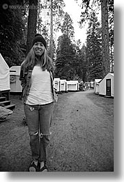 black and white, california, jills, people, vertical, west coast, western usa, womens, yosemite, photograph